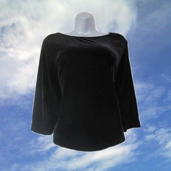 Vintage Tops - 1990s vintage plus size velvet shirt xl
